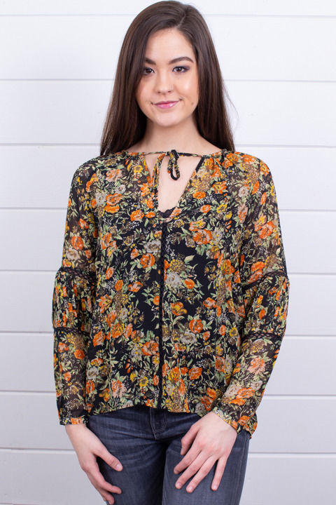 Knot Sisters Elaine Floral Top