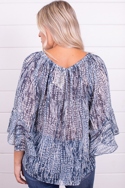 Lovestitch Feather Print Top 3