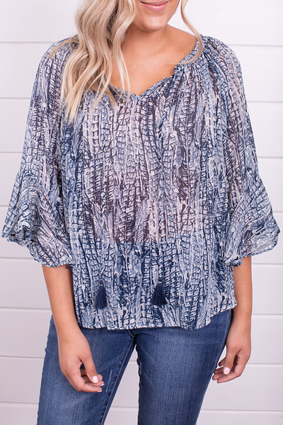 Lovestitch Feather Print Top 4