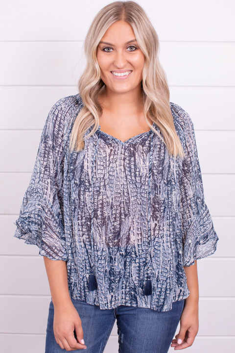 Lovestitch Feather Print Top