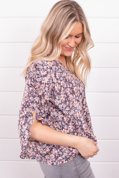 Lovestitch Floral Ruffle Sleeve Top 3