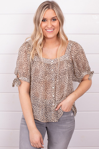Lucy Leopard Blouse