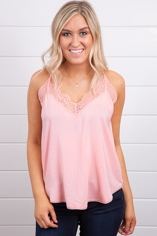 Lovestitch Peach Lace Cami