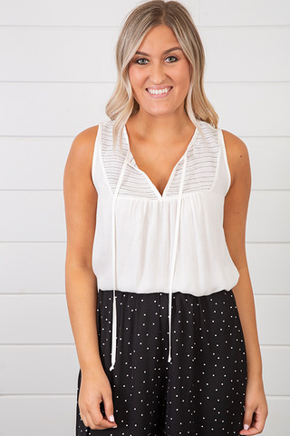Lovestitch Tassel Tie Tank