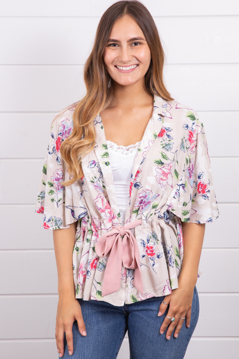 Mystree Bow Tied Blouse
