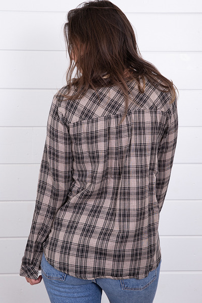 Mystree Embroidered Plaid Top 3