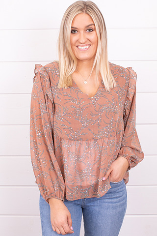 Mystree Fall Florals Blouse