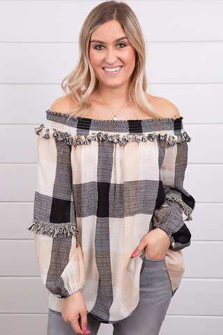 Fringe Trim Blouse