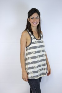 Lace and Stripe Tank