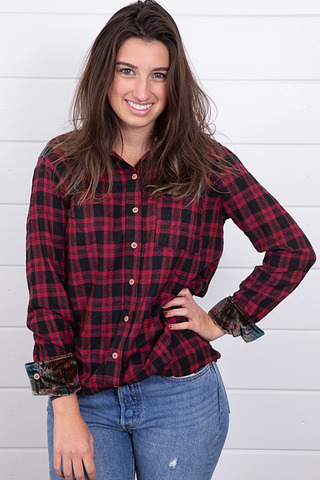 Mystree Plaid and Velvet Flannel