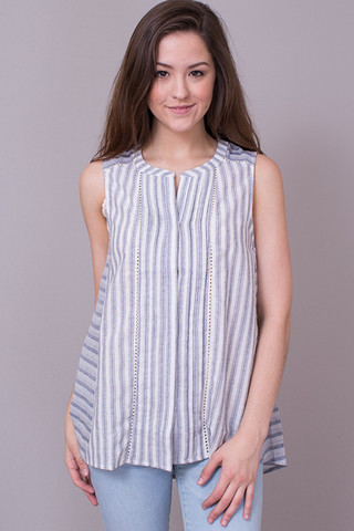 Mystree Sleeveless Stripe Top