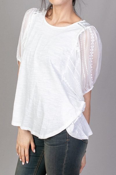 Mystree White Balloon Sleeve Top 3