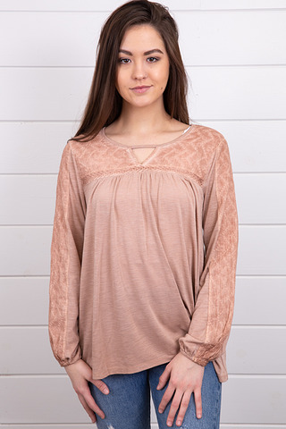 Mystree Woven Mix Top