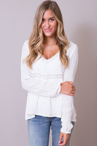 Peaceful Ivory Blouse