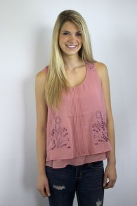 Peach Evelyn Top