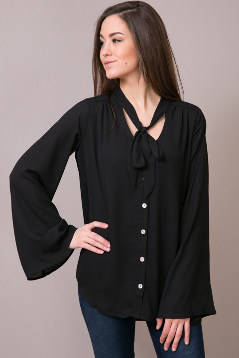 Show Me Your Mumu Taylor Tie Front Tunic