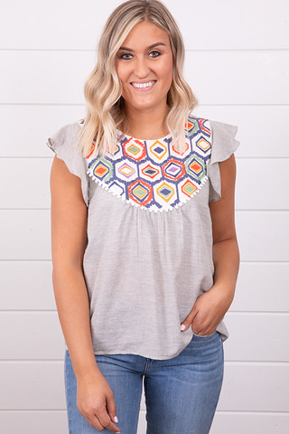 THML Embroidered Bib Top