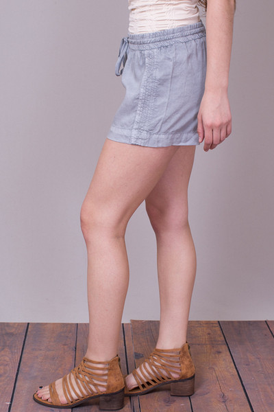 Bella Dahl Multi Stitched Short Grey 2