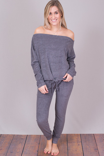 Bella Dahl Steel Grey Skinny Sweat 2