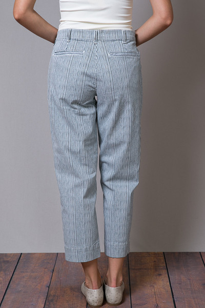 Henry & Belle Cropped Chino Railroad Stripe 4