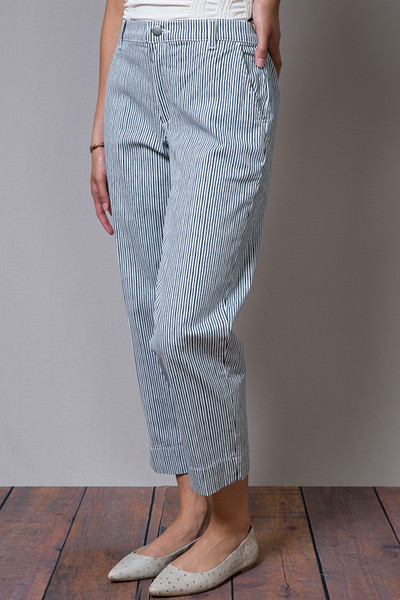 Henry & Belle Cropped Chino Railroad Stripe 3