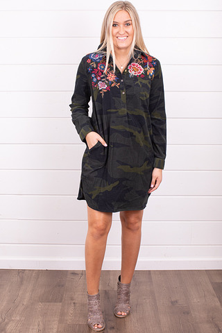 Johnny Was Collection Margot Collared Tunic Dress