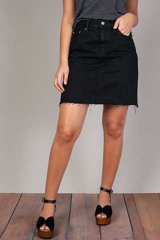 Levis Black Denim Skirt