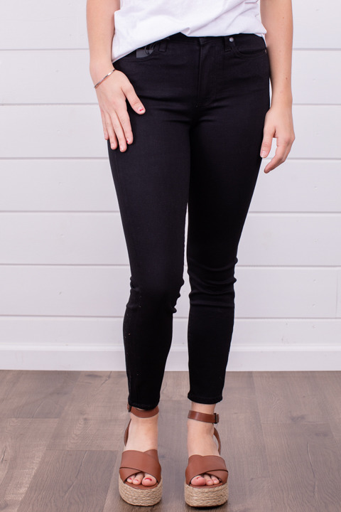 Paige Hoxton Crop Black Shadow