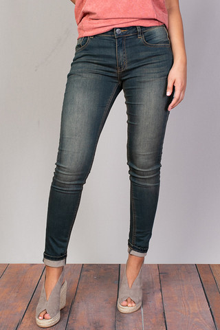 Mystree Sand Stretch Skinny Jean