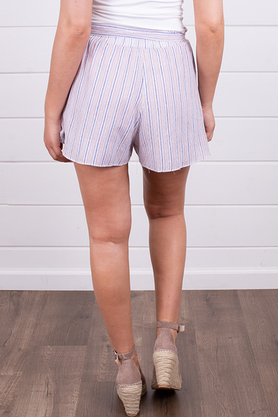 Hem and Thread Lavender Stripe Shorts 3