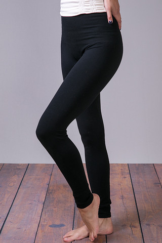 M. Rena Black Tummy Tuck High Waisted Legging