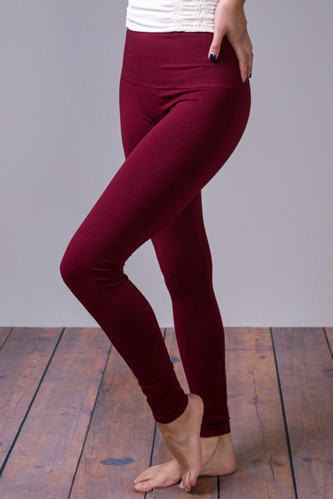 M Rena Burgundy Tummy Tuck High Waisted Legging