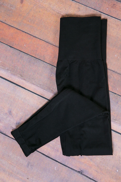 M. Rena Black Tummy Tuck High Waisted Legging 2