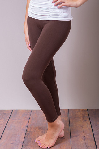 M. Rena Brown Cropped Leggings