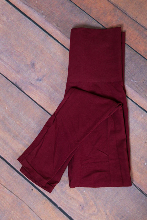 M. Rena Burgundy Tummy Tuck High Waisted Legging 2