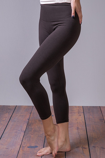 Cropped Tummy Tuck Legging Brown
