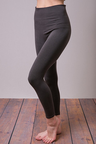 M. Rena Metallic Print Tummy Tuck Crop Legging