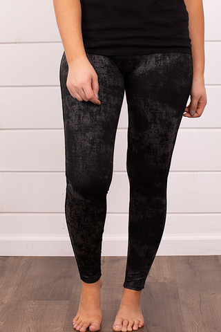 M. Rena Twill Faux Leather Leggings
