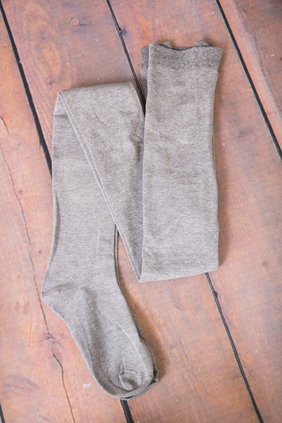 MeMoi Sweater Flat Knit Tights Grey 2