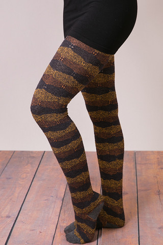 MeMoi ZigBand Sweater Tights
