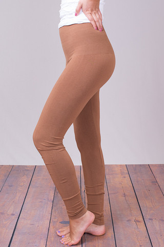 M. Rena New Camel Tummy Tuck High Waisted Legging