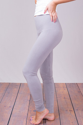 M. Rena Opal Grey Tummy Tuck High Waisted Legging