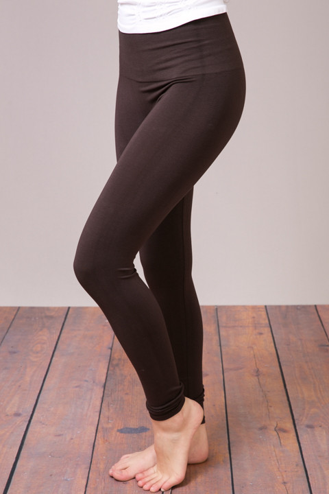M Rena Brown Tummy Tuck High Waisted Legging