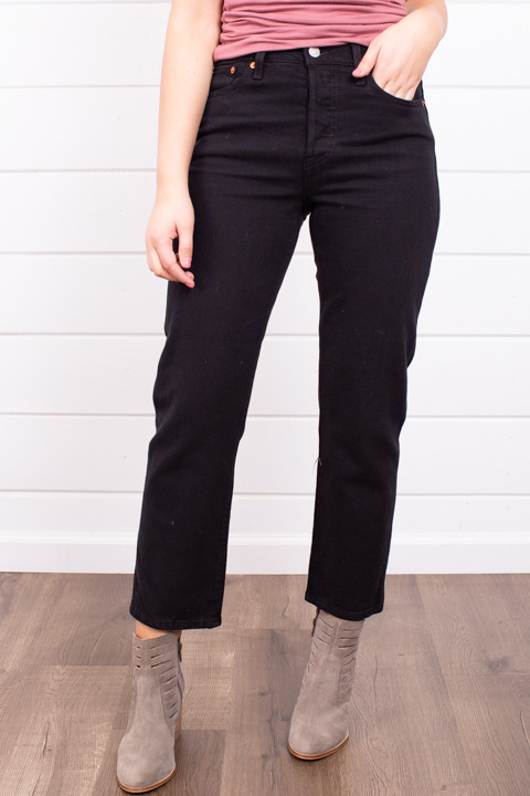 Levis Wedgie Straight Black Heart