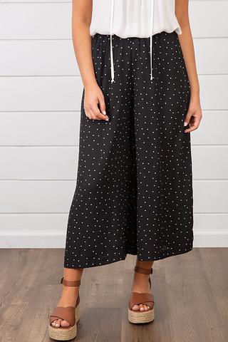 Lovestitch Polka Dot Crop Pant