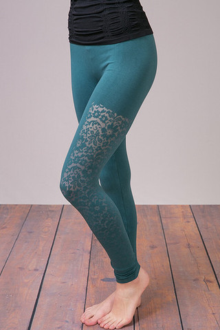 M. Rena Deep Ocean Lace Long Legging