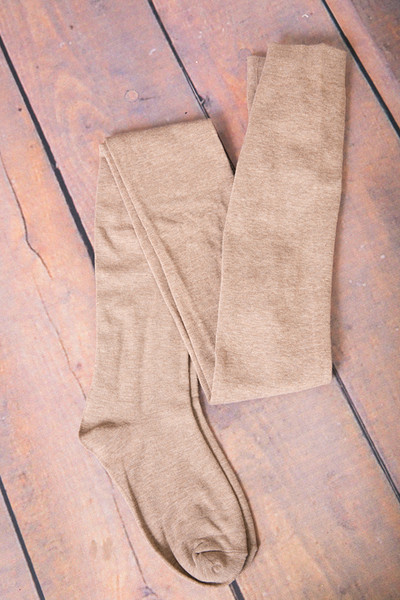 MeMoi Sweater Flat Knit Tights Taupe 2