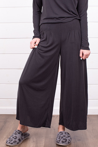 Mystree Black Wide Leg Pant