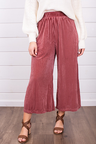 Mystree Candy Cane Wide Leg Pant