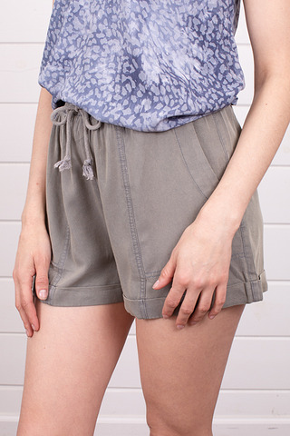 Mystree Olive Tencel Short